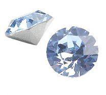 Swarovski punt kristal light sapphire 8mm, ss39