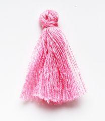 Kwastje midi licht roze, 30x15mm. Per stuk.