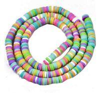 Snoer Katsuki of polymeer klei kralen multikleuren pastel mix 4mm