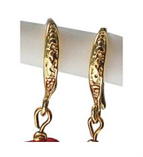 Oorhaakjes gold plated DQ 15x9x2mm. Per set.