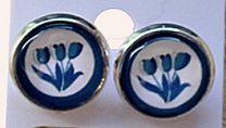 Oorbellen delftsblauwe tulpen