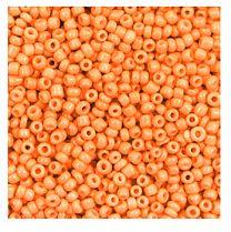 Rocailles goudsbloem oranje 12/0. Per 10 gram.