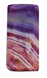 Kraal Agaat groot lila gestreept, 42x20mm. (P1)