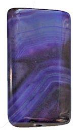 Kraal Agaat groot lila gestreept 42x20mm. (P7)