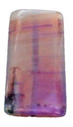 Kraal Agaat groot lila gestreept 42x20mm. (P8)