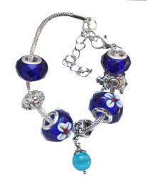 Kinderarmband Pandora style, blauw