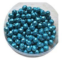 Glaskraal facetgeslepen 6mm pastel emerald,  per 40 stuks.