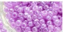 Rocailles Ceylon zacht lila/roze 6/0. Per 10 gram.