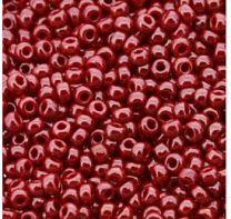 Rocailles 11/0 Miyuki Red opaque luster, 10 gram.