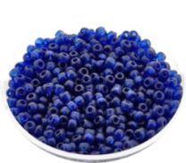 Rocailles donkerblauw 12/0. Per 10 gram.