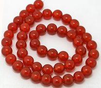 Kraal Agaat rood, 6mm.