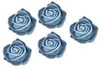 Plakroosjes blauw, 15x7mm. Per 5 stuks.