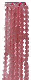 Snoer Rozekwarts kralen van 8mm.