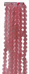 Kraal Rozekwarts 6mm. Per kraal.