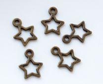 Bedel open sterretje bronskleurig, per 3