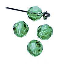 Swarovski kristalkraal Peridot groen 6mm. Per stuk.