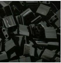 Miyuki Tila kraaltjes, zwart. Per 5 gram.