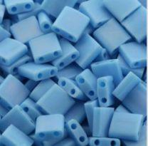 Miyuki Tila kraaltjes, opaque mat AB blauw turkoois. Per 5 gram.