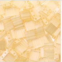 Miyuki Tila kraaltjes, geel zijde zacht met glans. Per 5 gram.