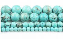 Snoer turkoois kralen 4mm groen-blauw