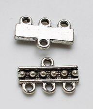 Verdeler zilverkleurig 3-1 20x10mm. Per stuk.