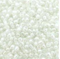 Rocailles wit/kristal 12/0. Per 10 gram.